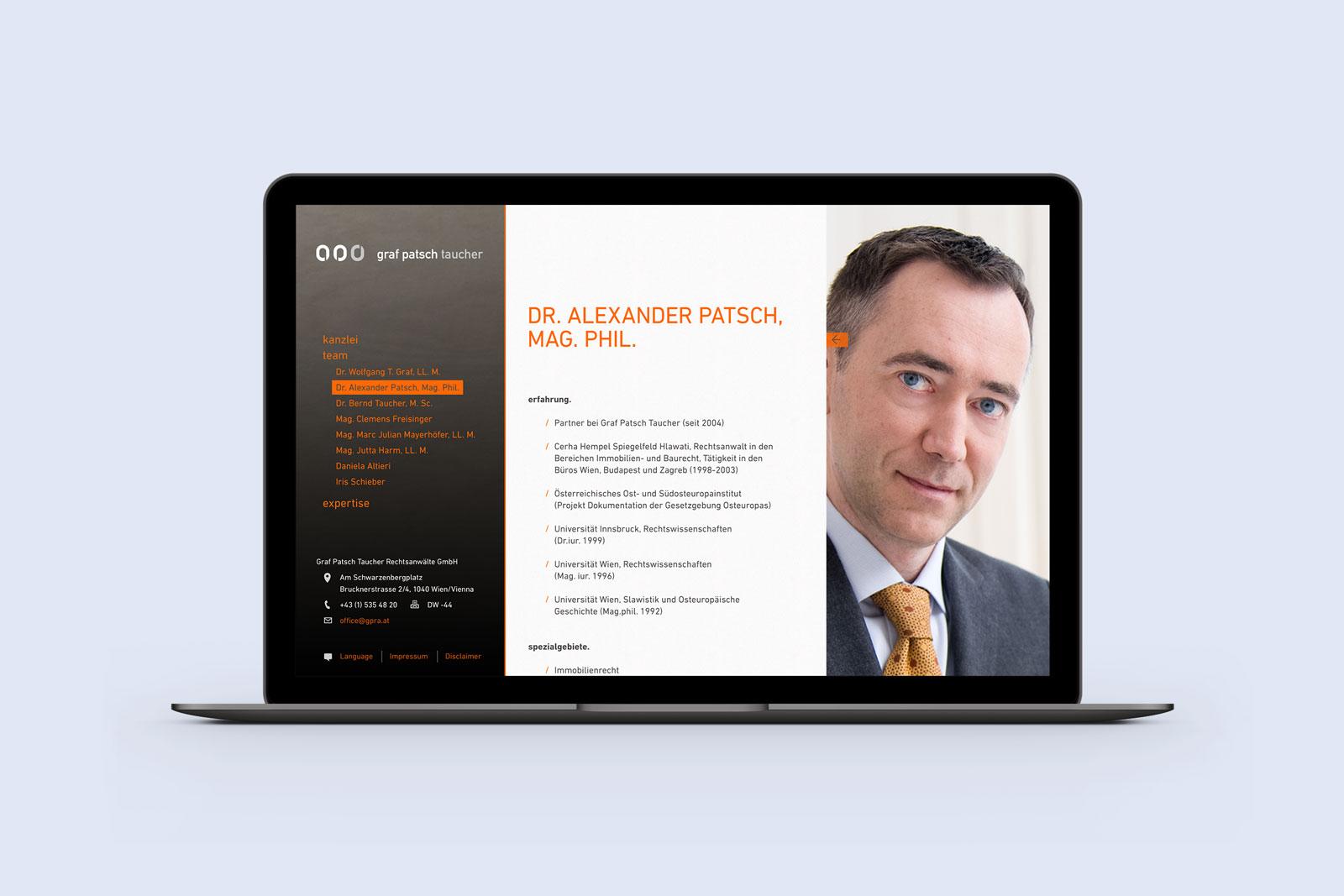 Graf Patsch Taucher Rechtsanwaelte Mac Book 2