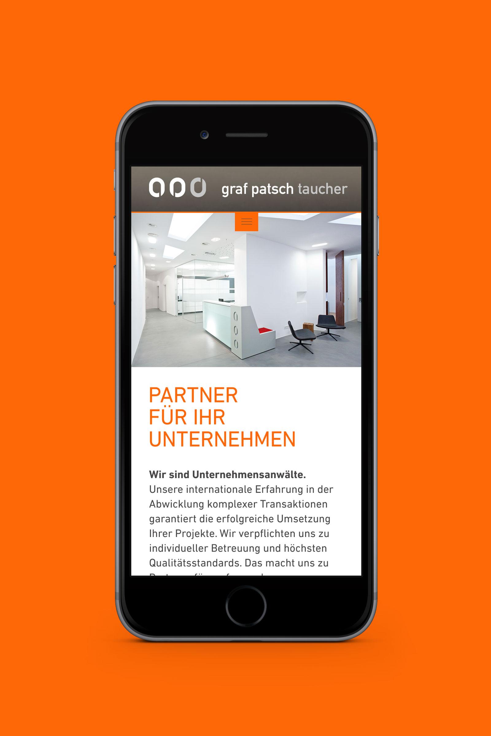 Graf Patsch Taucher Rechtsanwaelte I Phone 1