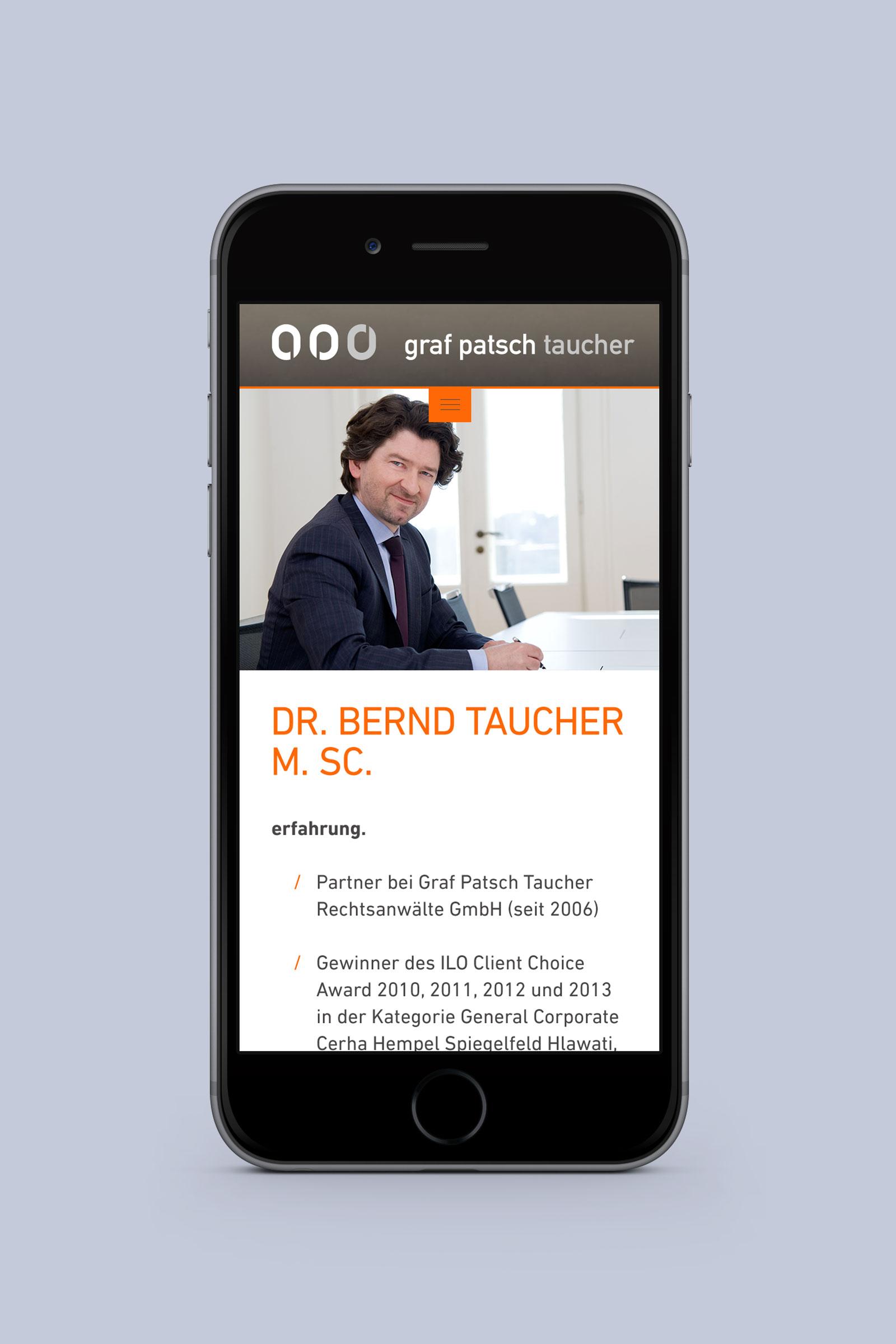 Graf Patsch Taucher Rechtsanwaelte I Phone 2