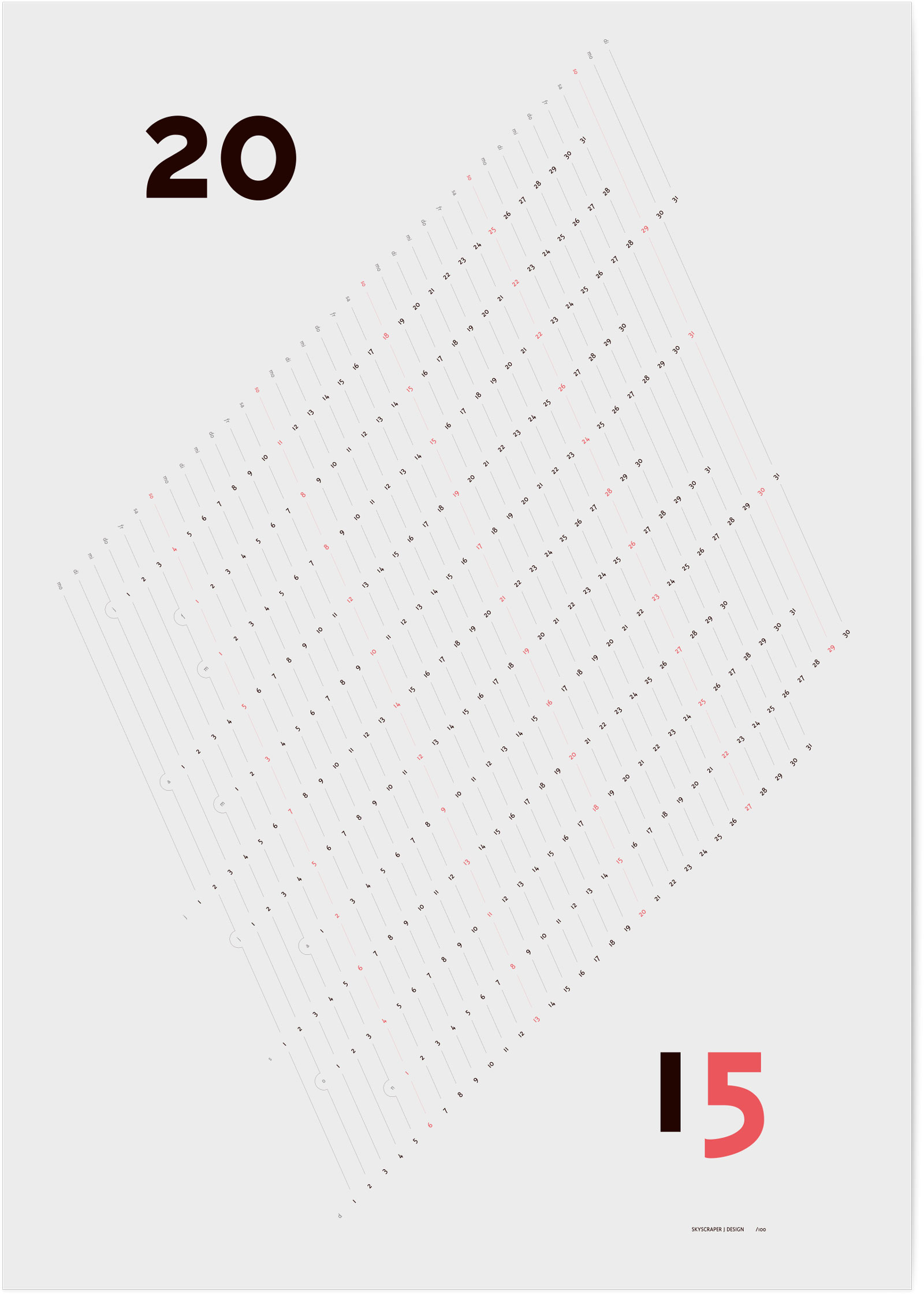 Kalender 2015 Shadow