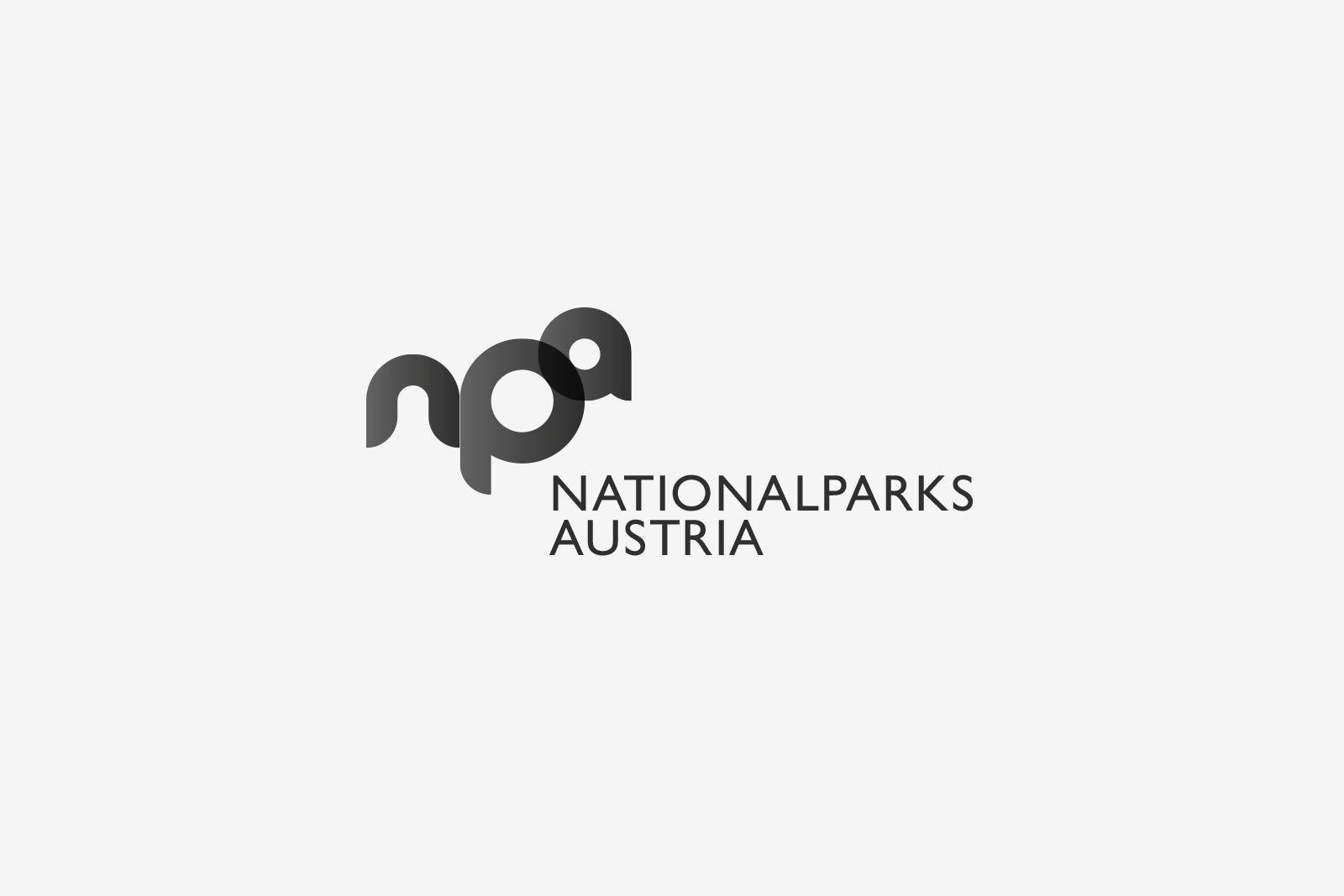 Logo Nationalparks Austria Bw