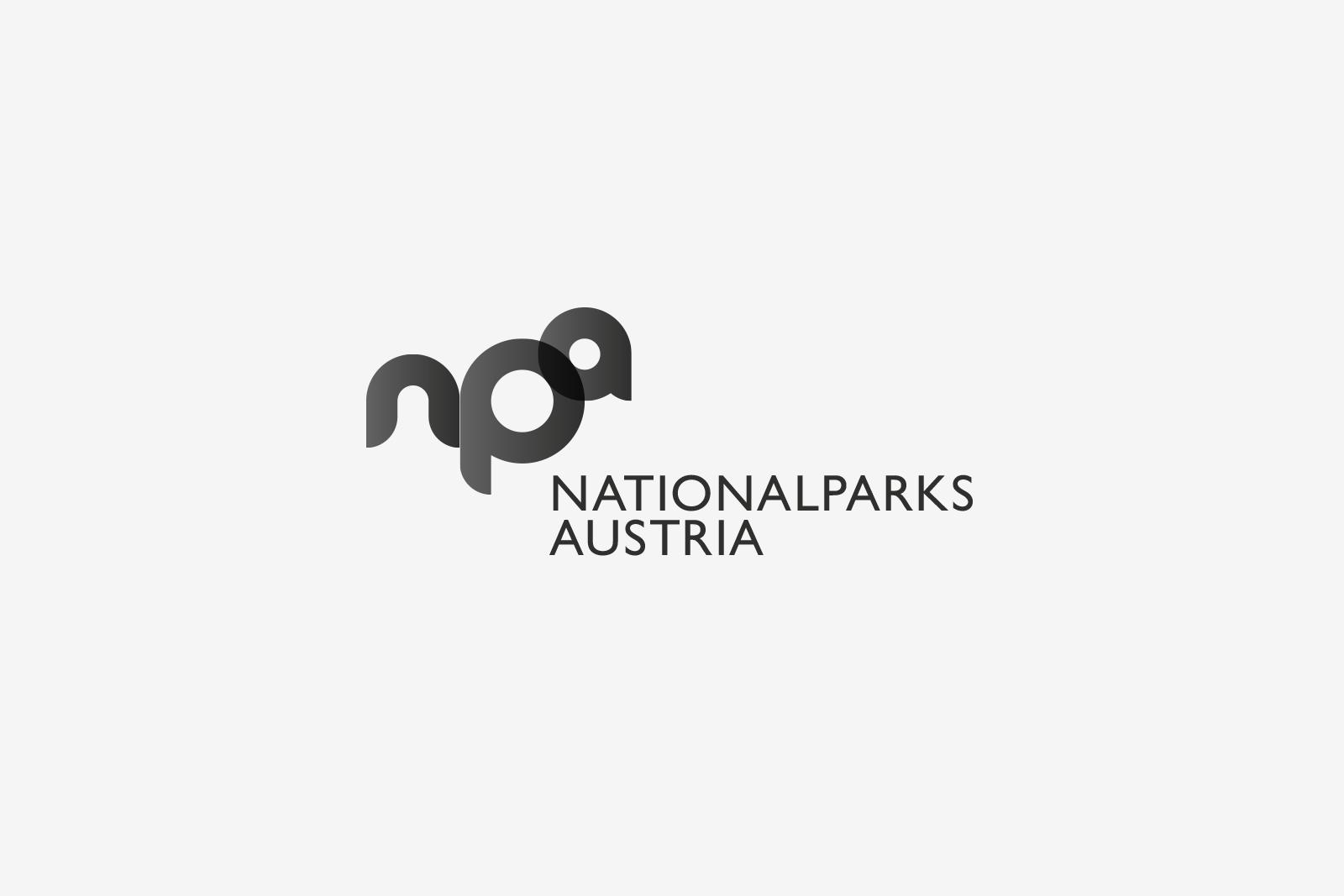 Logo Nationalparks Austria Bw